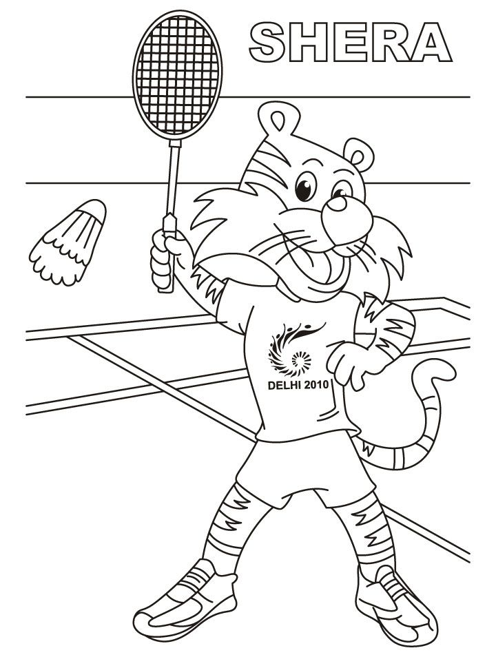 Old mother hubbard coloring page az coloring pages for Badminton coloring pages