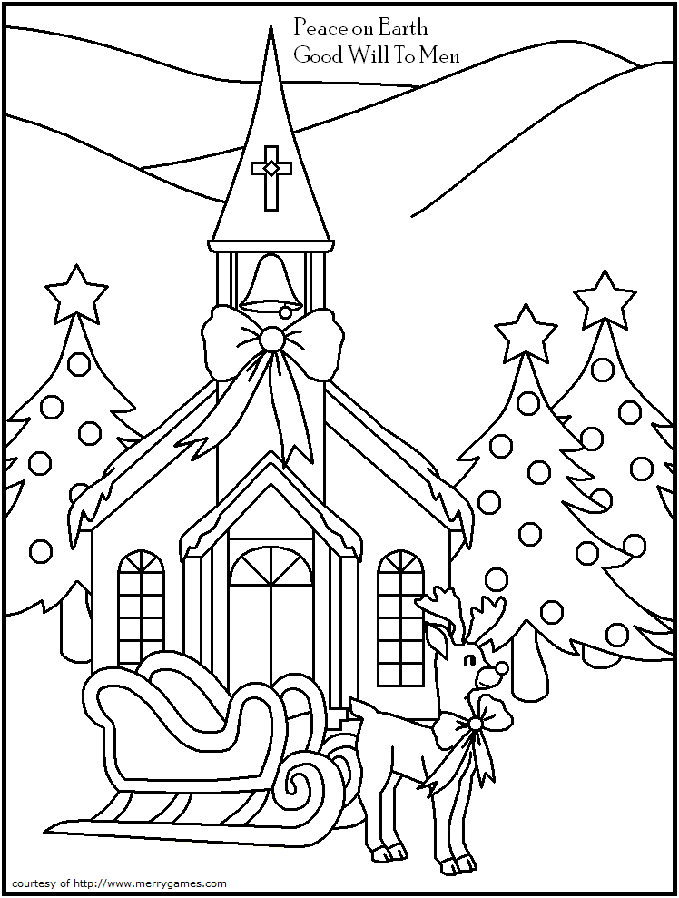 christian christmas coloring pages - photo#18