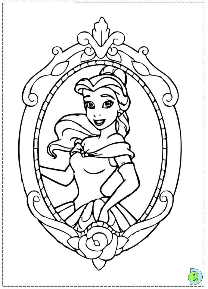 Beauty and the beast color pages az coloring pages for Beauty and the beast free coloring pages