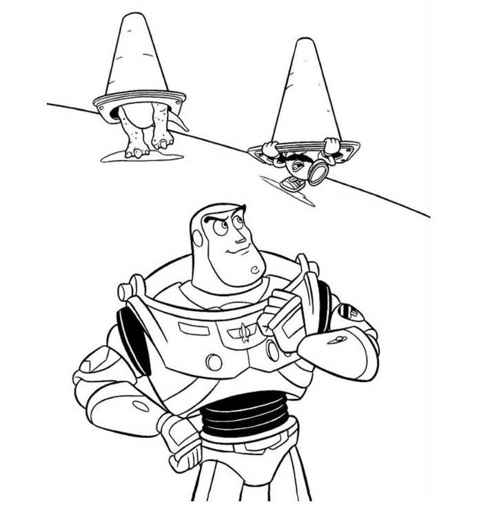 buzz lightyear coloring pages free - print toy story buzz lightyear mr potato and rex coloring