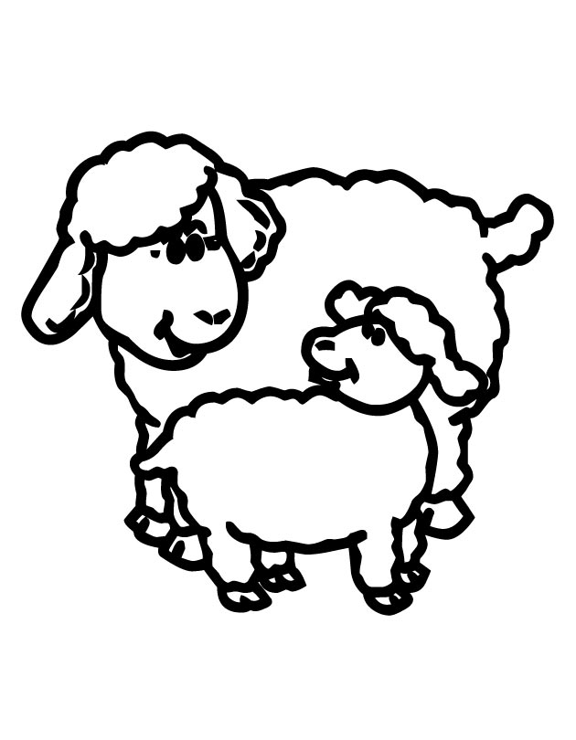 Lamb color page az coloring pages for Coloring page sheep