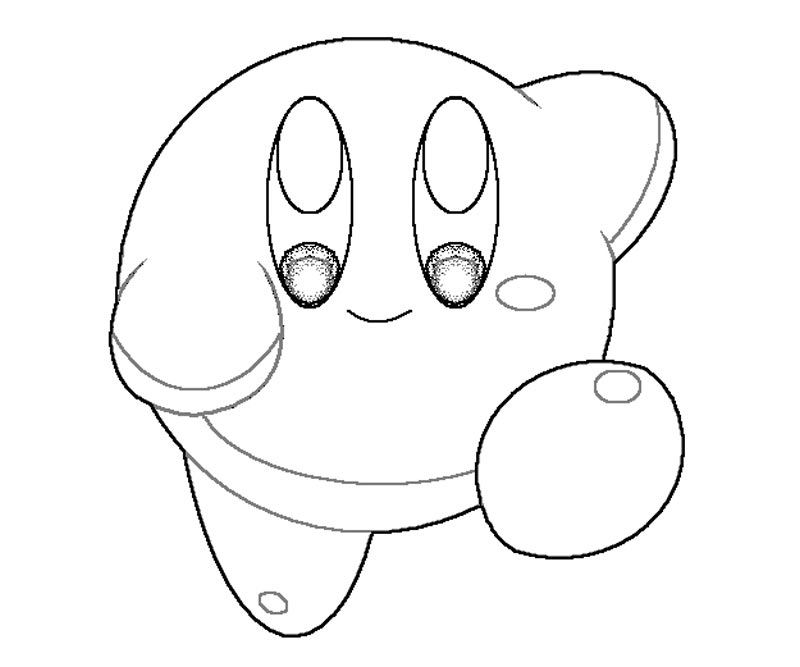 Kirby coloring home for Kirby coloring pages to print