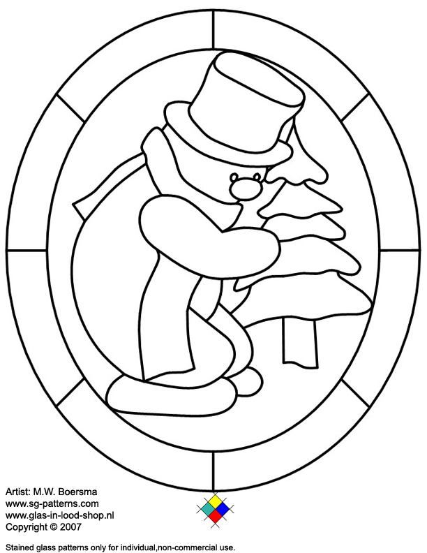 christmas stained glass window templates - stained glass christmas coloring pages az coloring pages