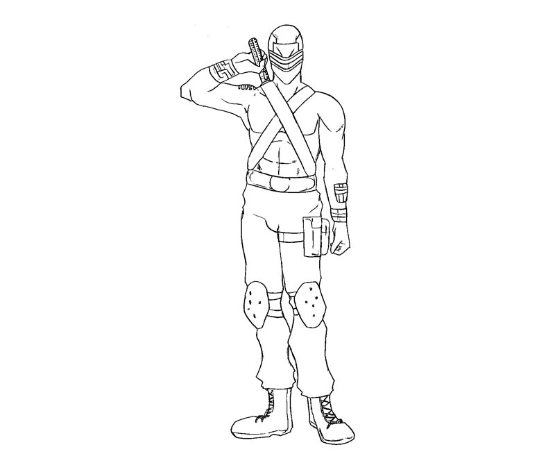 Gi Joe Snake Eyes Coloring Pages Coloring Home