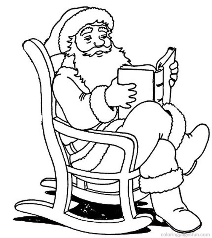 santa claus house coloring pages - photo#16