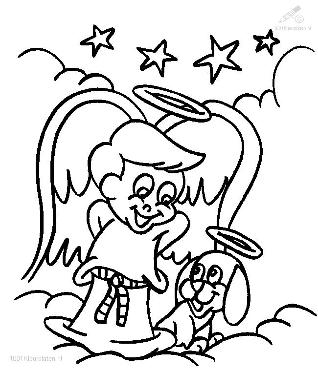 Coloring Picture Of Angel Gabriel And Mary