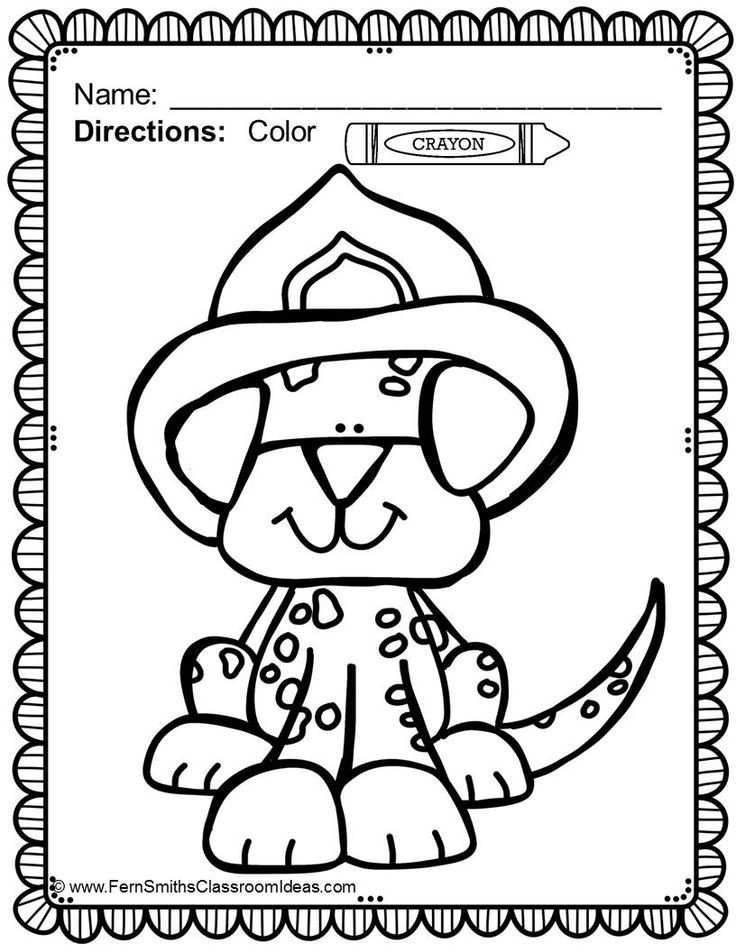 Fire Dog Coloring Pages Az Coloring Pages