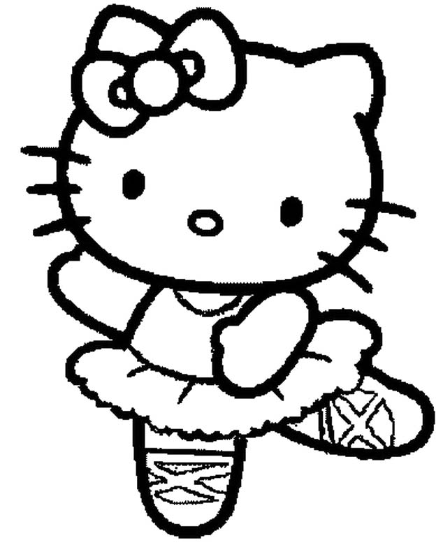 hello kitty black and white az coloring pages