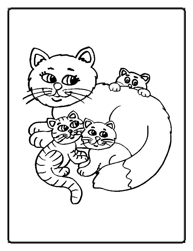Cat Valentine Coloring Pages l Cats And Kittens Colouring