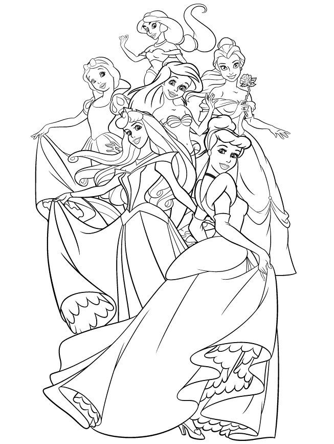 All Disney Princess Coloring Pages Coloring Home Disney All Princess Coloring Pages