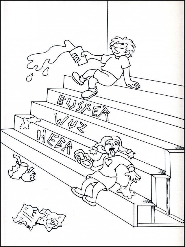 Bullying Coloring Pages For Kindergarten : Kids against bullying coloring book activity pages word