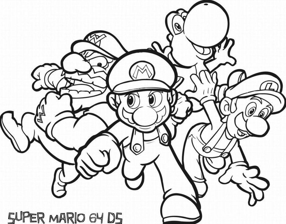 Mario Galaxy 2 Coloring Pages Coloring Home