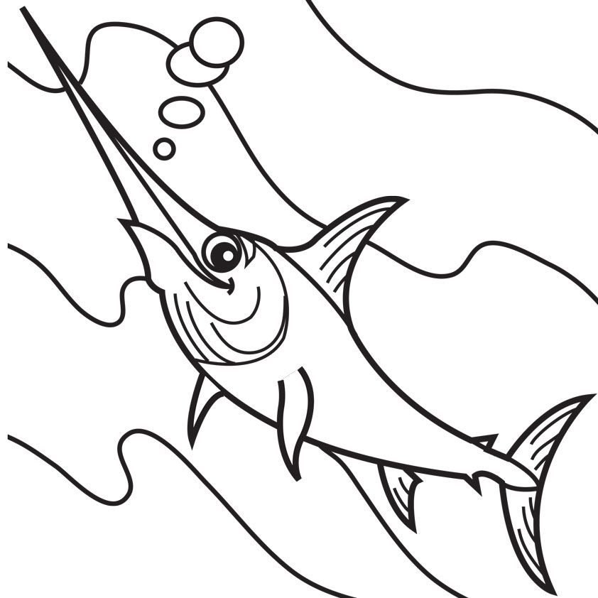 Swordfish Coloring Page Coloring