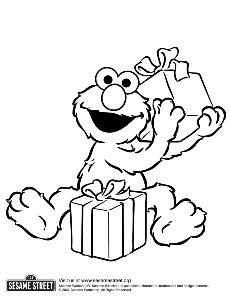 sesame street holiday coloring pages - photo#31