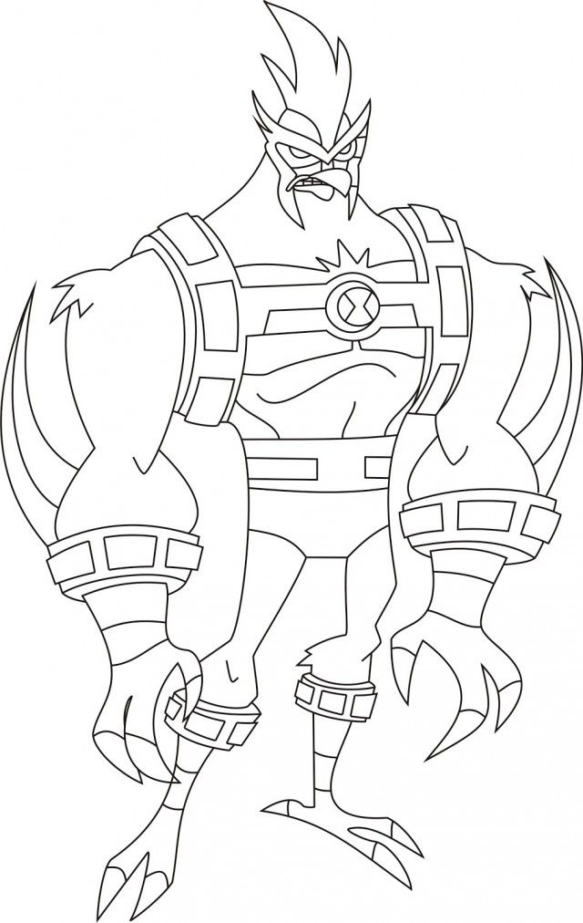 Ben 10 Omniverse Coloring Pages Online Printable