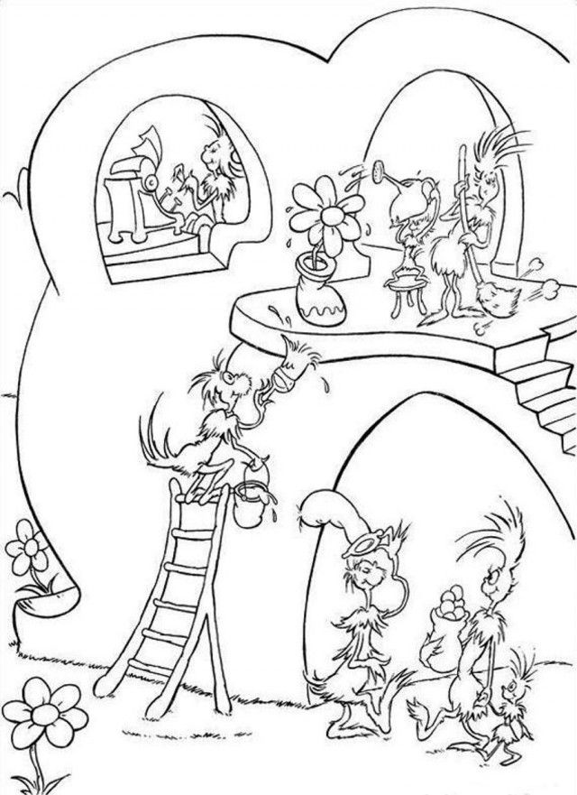 Dr Seuss Fish Coloring Pages Hd Quotes Wallpaper HD 276725 Free Dr