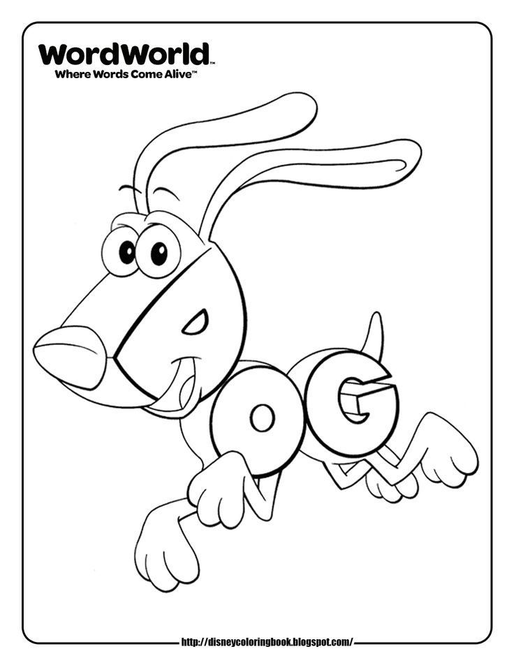 word world dog coloring pages | Coloring Pages