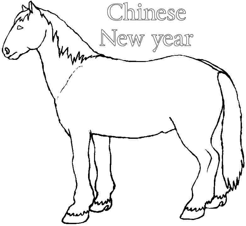 Color Year of The Horse Horse Chinese New Year For