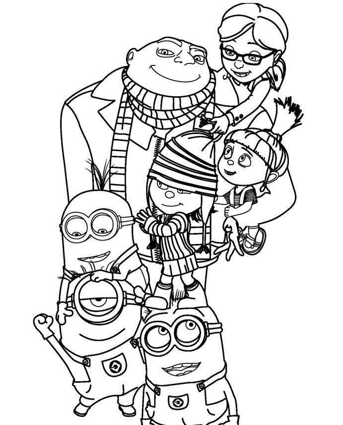 coloring print pages minions - photo#16