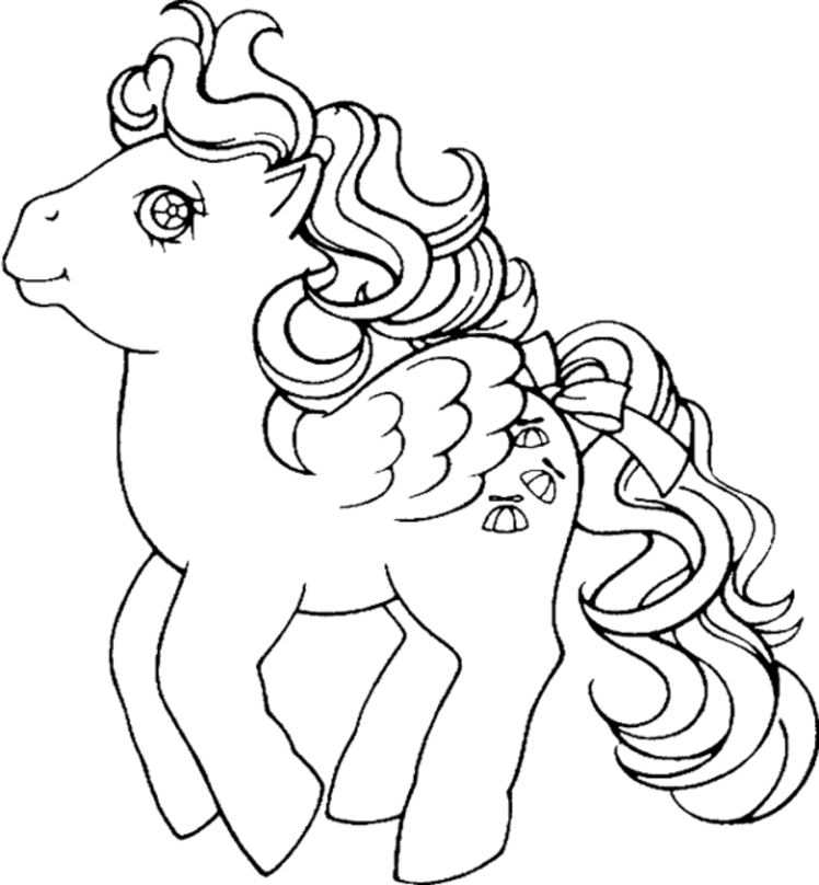Pony Coloring Pages Printable - Coloring Home