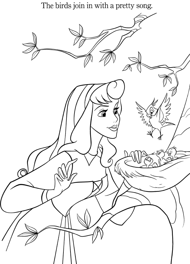 Disney Princess Aurora Coloring