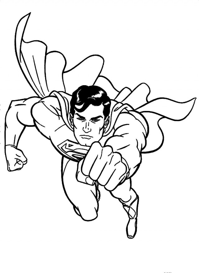 Flying Superman Colouring Pages Page 3 49901 Superman Color Pages