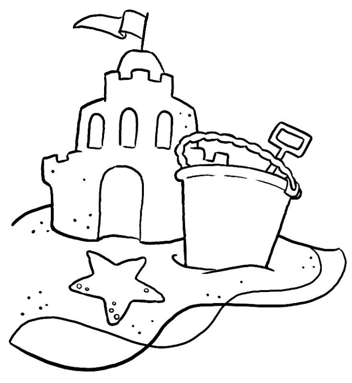 Sand Castle Coloring Pages Az Coloring Pages Sandcastle Coloring Page