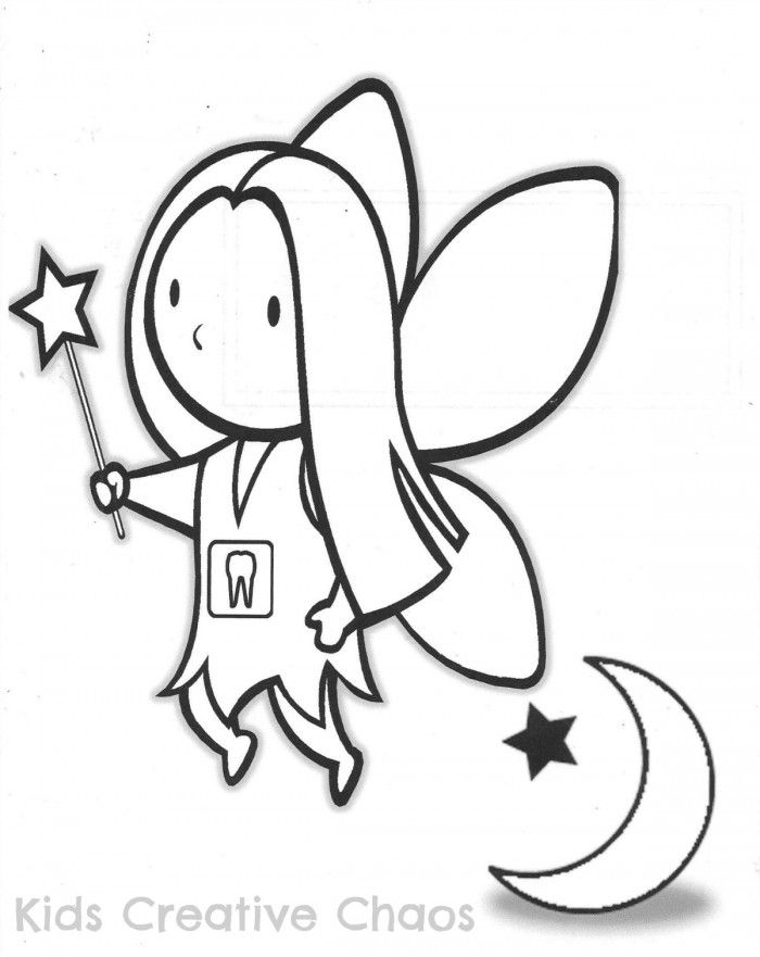 Tooth fairy coloring pages for kids coloring home for Tooth fairy coloring pages