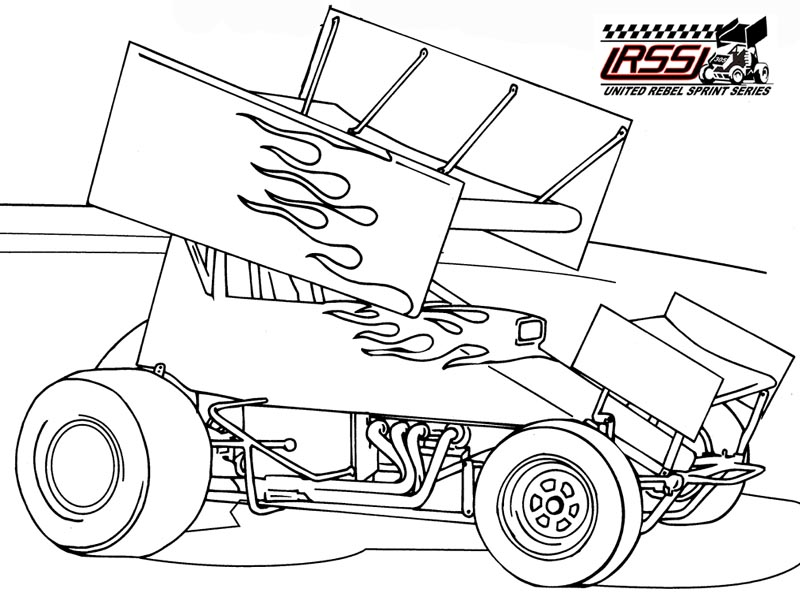 Race Car Color Pages - AZ Coloring Pages