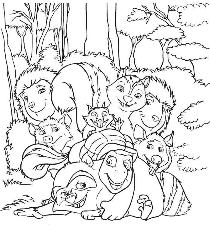 Over The Hedge - 999 Coloring Pages - Coloring Home