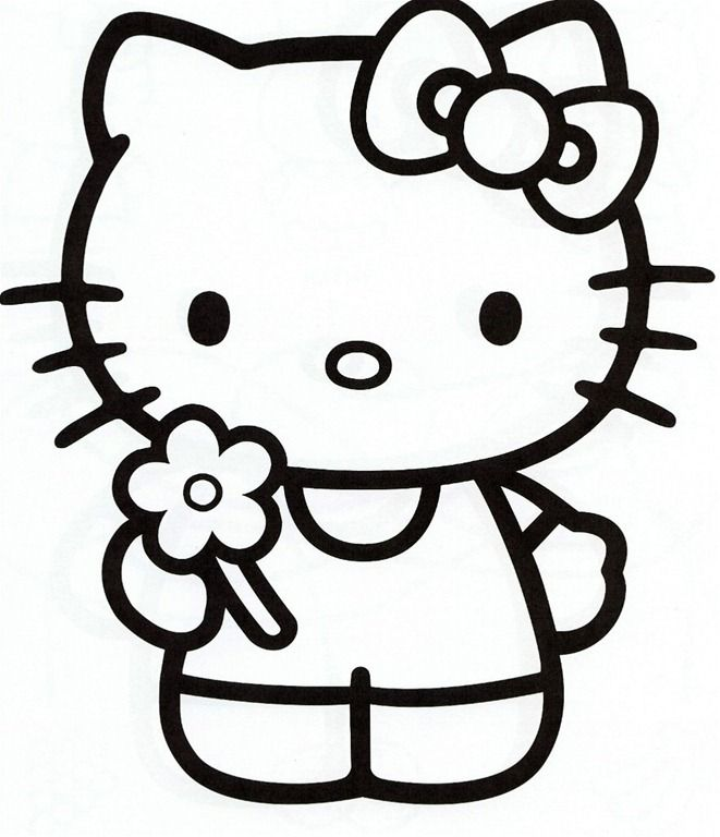 Happy Birthday Hello Kitty Coloring Pages  Coloring Home