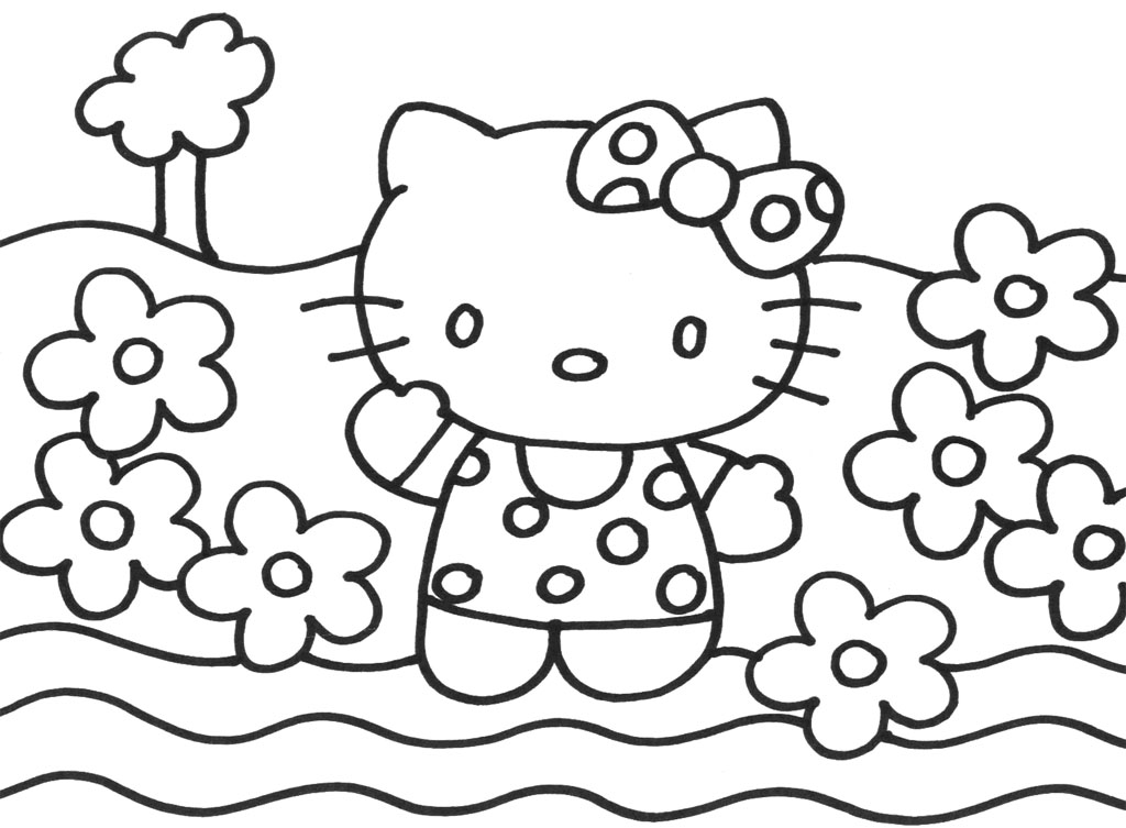 hello kitty holiday coloring pages - photo#25