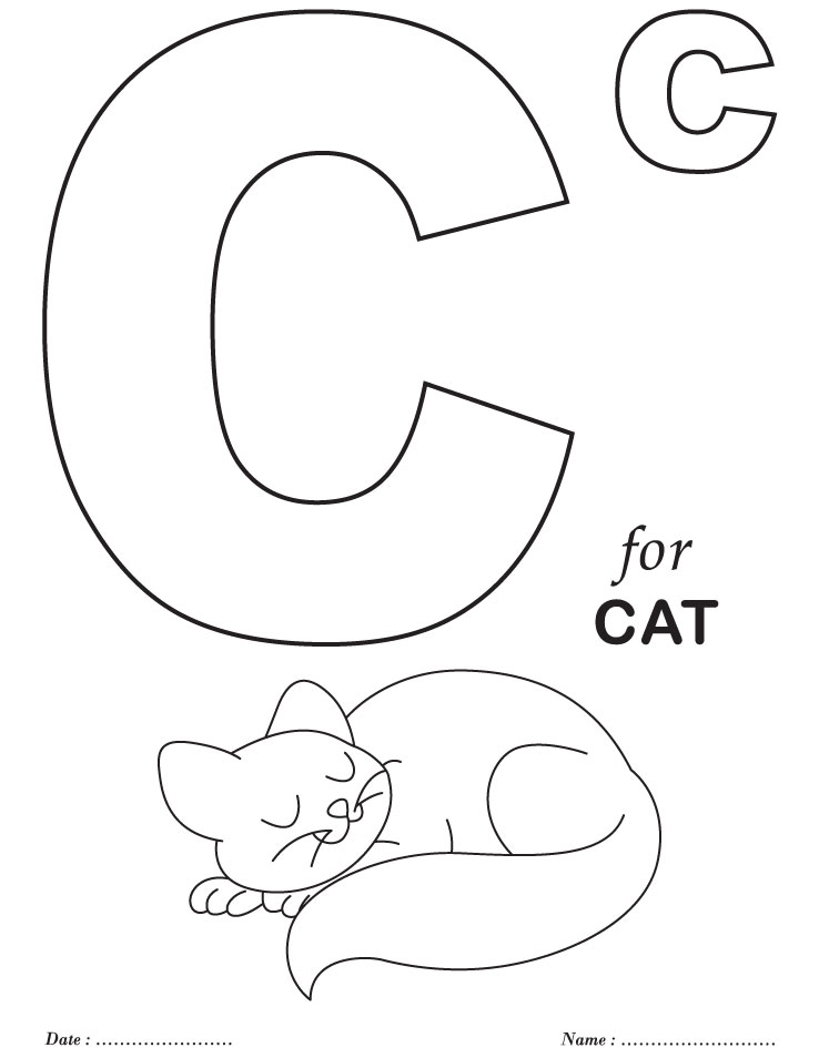 alphabet coloring pages for preschool - photo#1