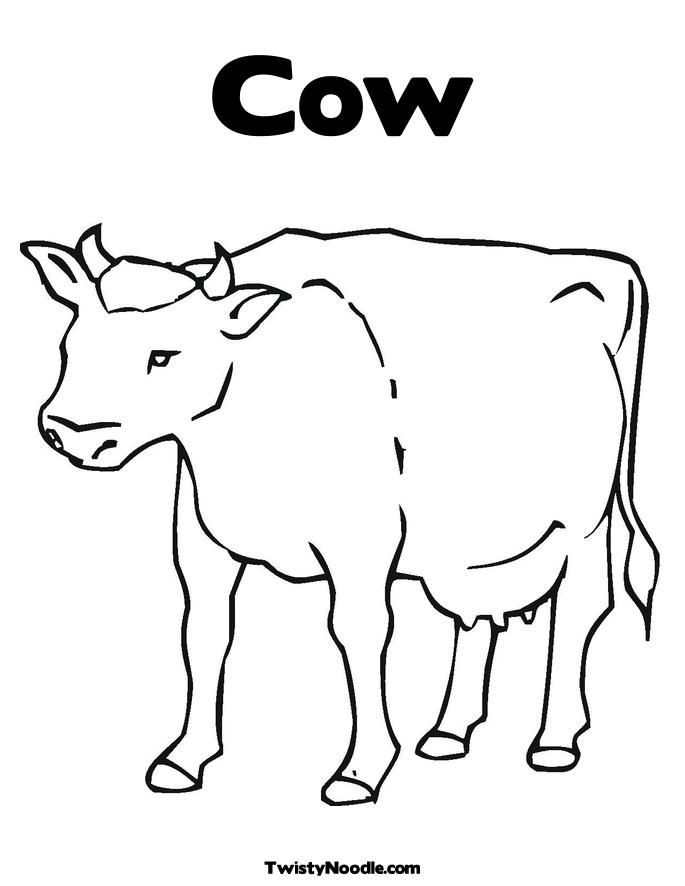 Cow Template Printable Coloring Home