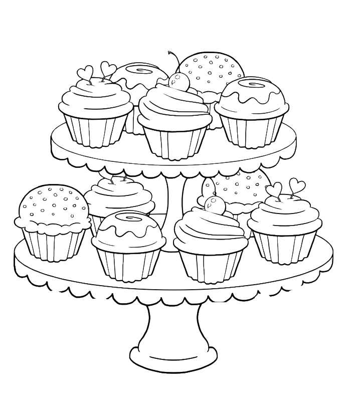 Cupcake Coloring Page Coloring Home Coloring Pages Of Cupcakes