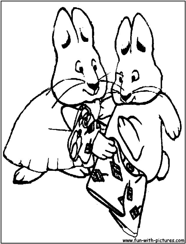 Tomb Raider Coloring Pages Coloriage 160380 Max And Ruby Page