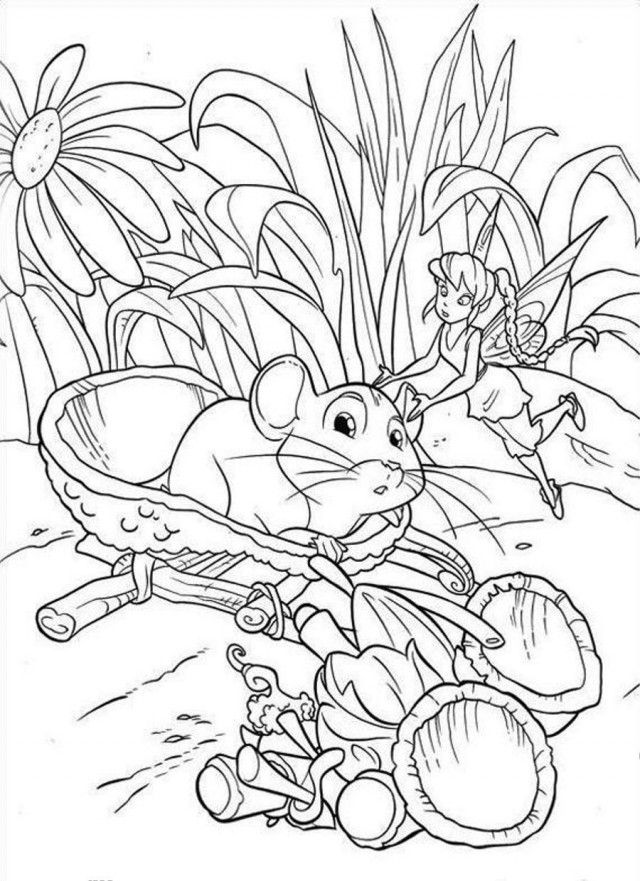 no download coloring pages - print or download tinkerbell free printable coloring pages
