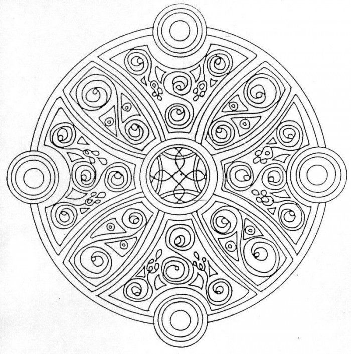 Celtic Mandala Coloring Page : Printable Coloring Book Sheet