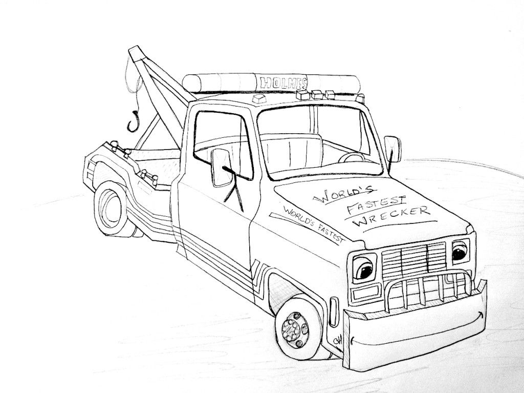 tow truck coloring pages - photo#18