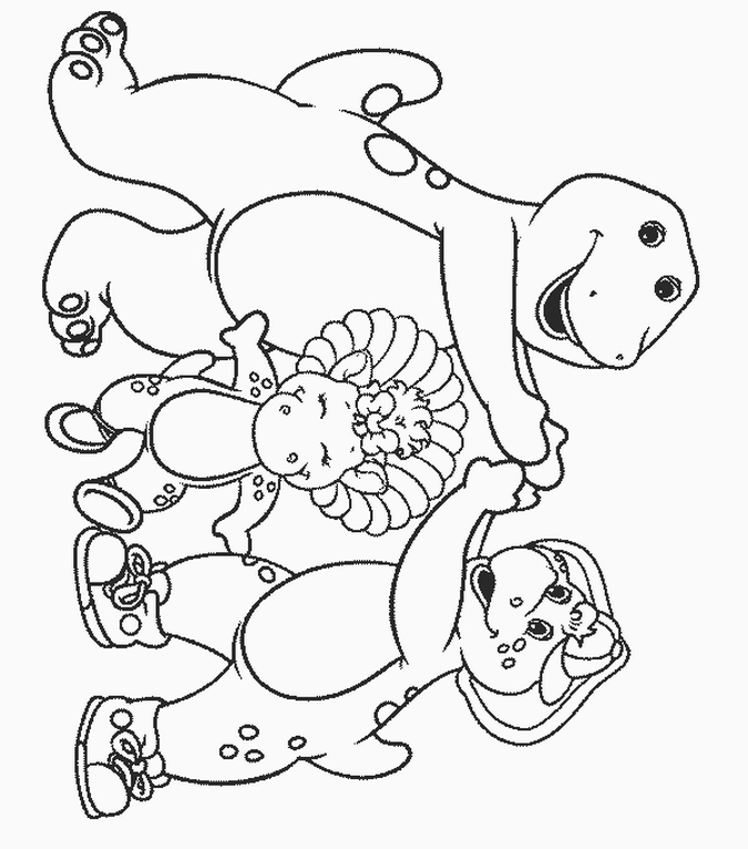 christmas barney coloring pages - photo#36