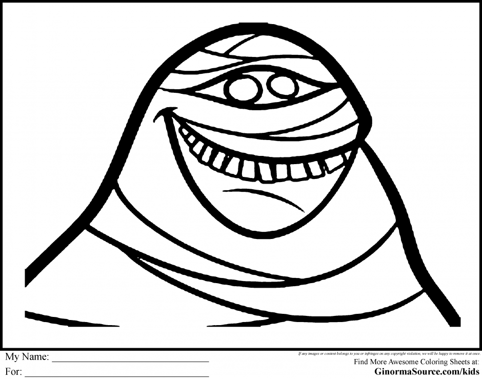 Mummy Coloring Page - Coloring Home