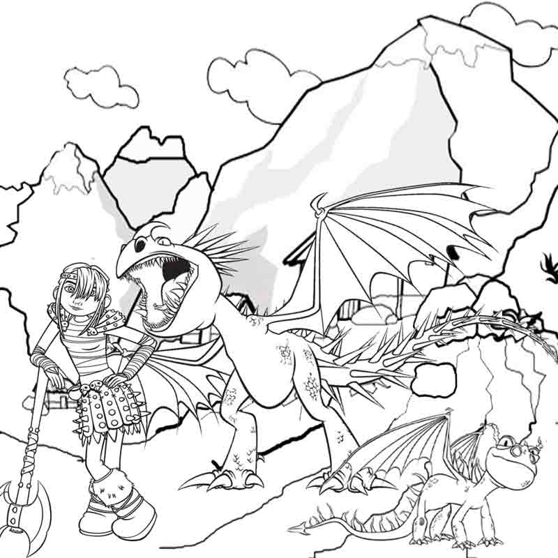 dragons riders Colouring Pages