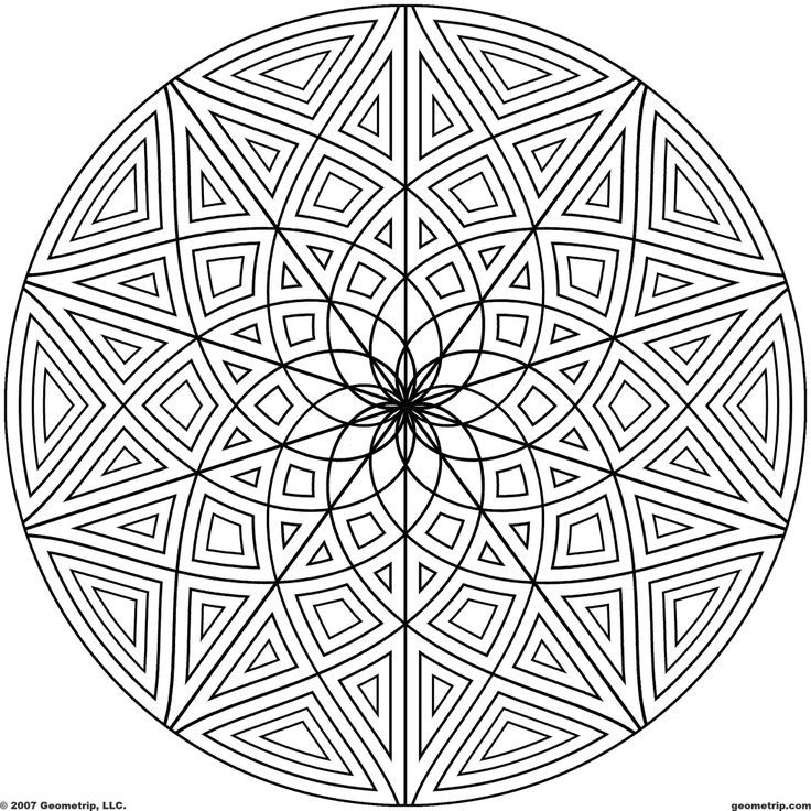 free geometic coloring pages - photo#20
