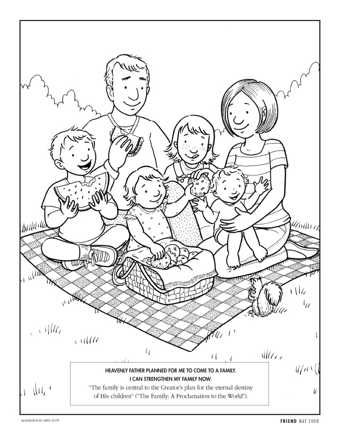 Family Coloring Sheet Coloring Pages of Family
