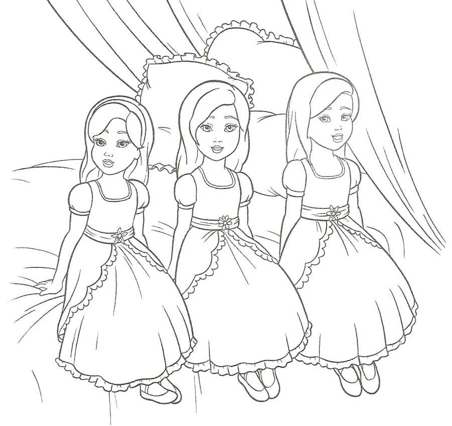 Barbie Thumbelina Coloring Home