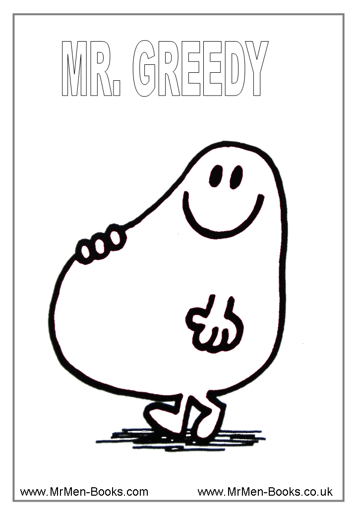 mr men coloring pages - photo#7