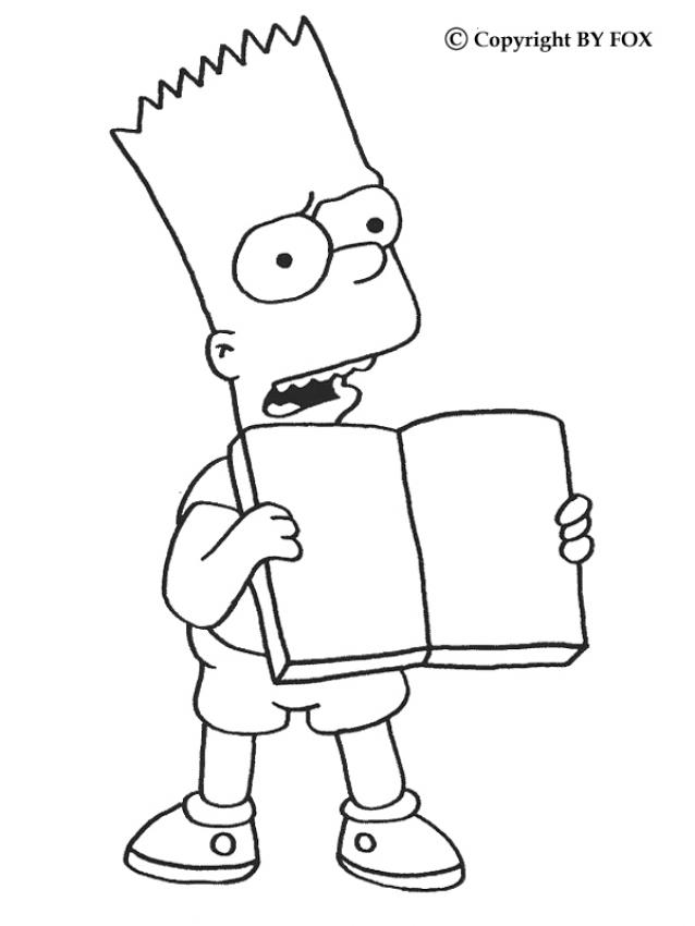 Bart Simpson Coloring Pages Coloring Home Bart Color