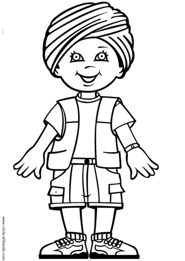 coloring page rohin from india img 5643
