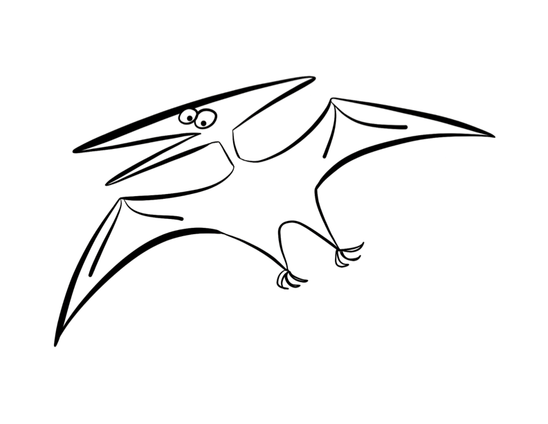 Pterodactyl Coloring Page | ColorDad - Coloring Home