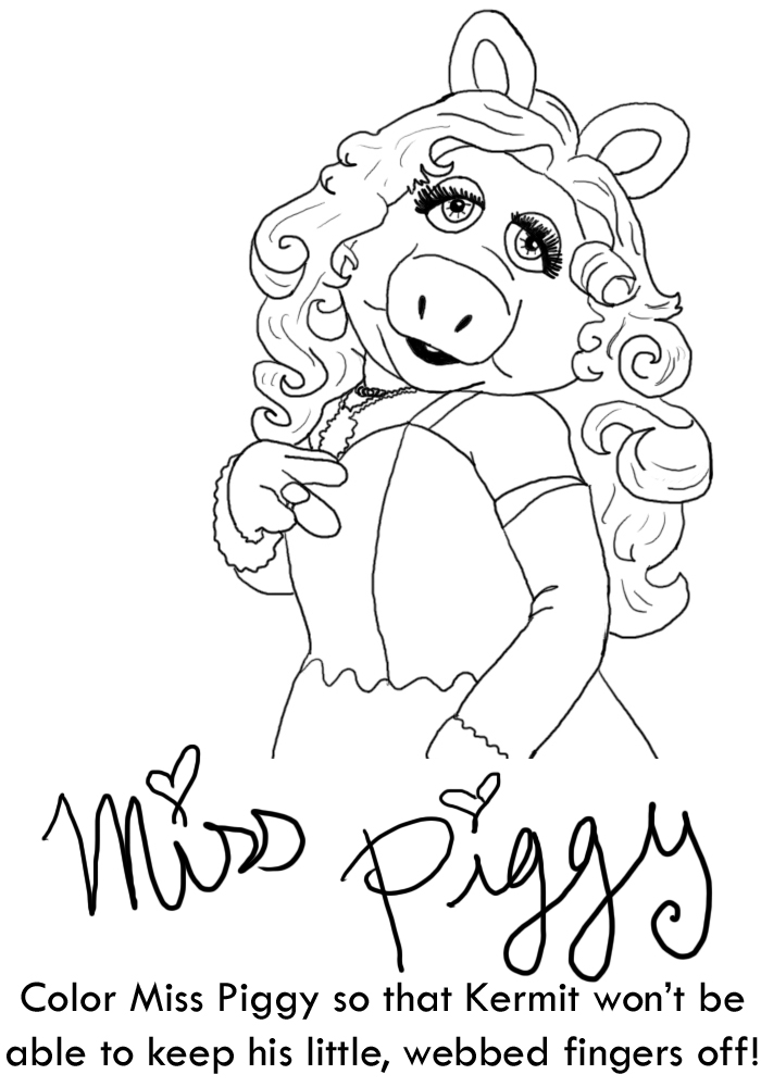 miss piggy coloring pages muppets - photo#27